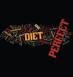 The perfect diet to lose weight fast text vector