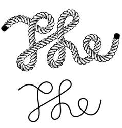 black rope the vintage symbol vector image