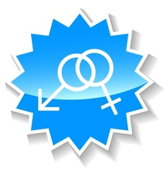 Sex blue icon vector