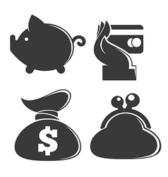 money collection vector image