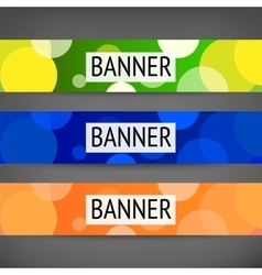 Horizontal web banners vector