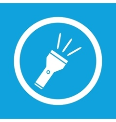 Flashlight sign icon vector