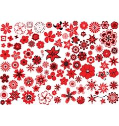 100 flowers vector