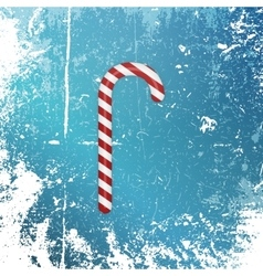 Realistic christmas striped sweet candy cane vector