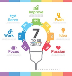 7 to be great infographic vector image vector image