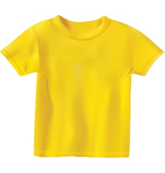 Yellow t-shirt design template vector