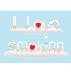 I love smoking vector