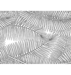 Seamless pattern with palm leaves in sketch style vector