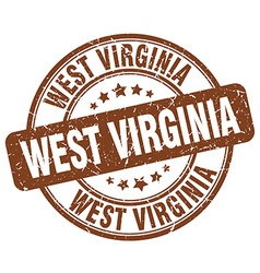 West virginia stamp vector