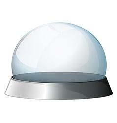 A circular dome with a silver holder vector