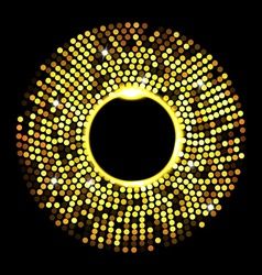 abstract golden dots on black vector image vector image
