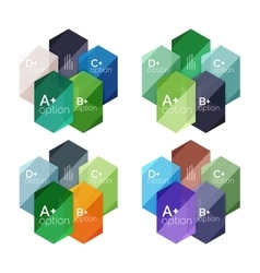 Abstract infographic banners for your content vector