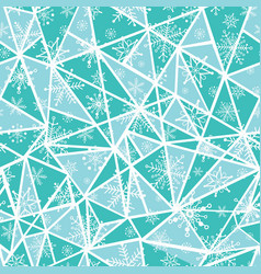 Abstract mint green christmass snowflakes vector