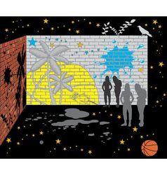 Abstract wall of bricks vector
