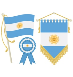 argentina flags vector image vector image
