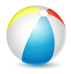 beach ball isolated on a white vector image vector image