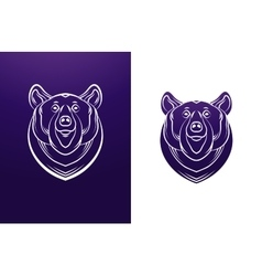 Bear logo template Animal head symbol vector image vector image