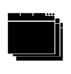 black icon web window vector image