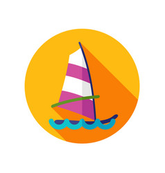 board windsurfing icon summer vacation vector image