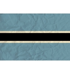 Botswana paper flag vector image vector image