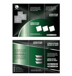 Brochure design template trifold vector