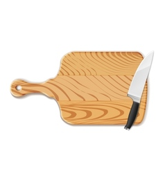 Chopping board and knife vector