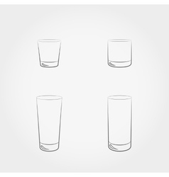 Classic glassfuls set vector image vector image