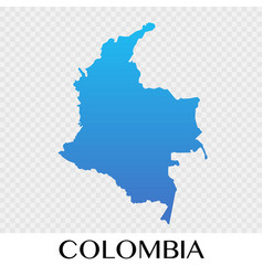 Colombia map in south america continent design vector
