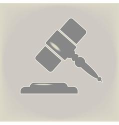 Hammer of judge vector