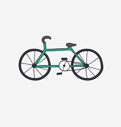 Hand drawn bike vector