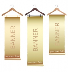 hanger banners vector image vector image