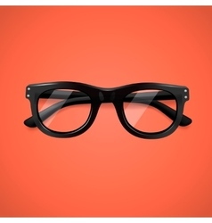 Highly detailed glasses icon vector image