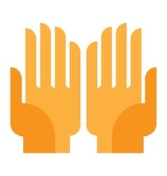 human hand vector image