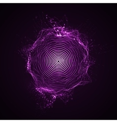illuminated shape of particles array vector image vector image