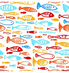 Ink of underwater life and fish vector image vector image