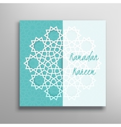 Islamic ramadan greeting card vector