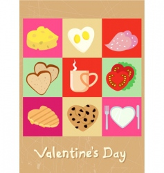 love cookie vector image