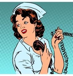 Nurse hospital phone health medical surgery style vector