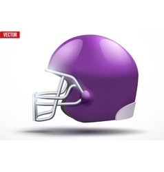 Realistic American football helmet Side view vector image vector image