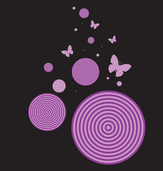 Retro butterfly background vector image vector image