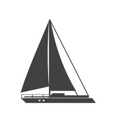 sail ship vector image
