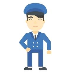 School bus driver vector