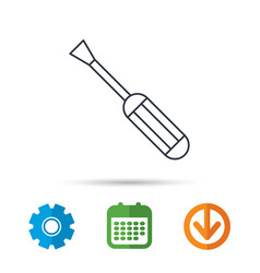 screwdriver icon repair or fix tool sign vector image