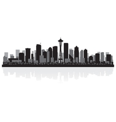 Seattle USA city skyline silhouette vector image vector image