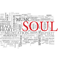 Soul word cloud concept vector
