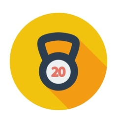 Sport weight single icon vector