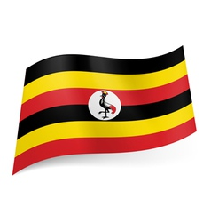 State flag of uganda vector