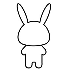 stuffed animal rabbit vector image