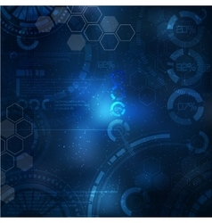 Technology background Technological elements on vector image vector image