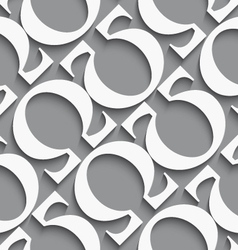 White diagonal seamless background with omega vector image